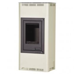 HS FLAMINGO AQUAFLAM 7 kachle krbové s teplovodným výmenníkom, manuálna regulácia, krémová