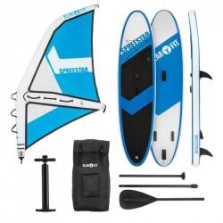 KLARFIT Spreestar WS paddleboard nafukovací SUP 325 sada modro-biela veľkosť S