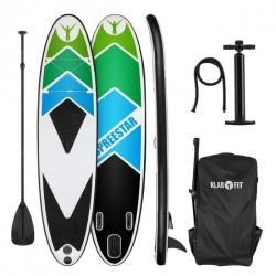 KLARFIT Spreestar 325 paddleboard nafukovací SUP 325 sada čierno-modrý