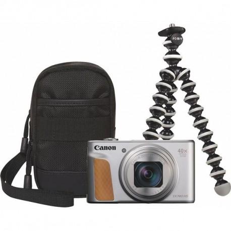CANON POWERSHOT SX740 HS fotoap. digit. Travel Kit strieborný
