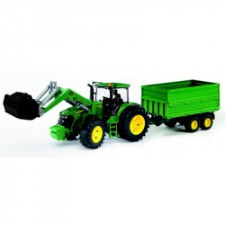 BRUDER JOHN DEERE 03055 traktor s vlečkou