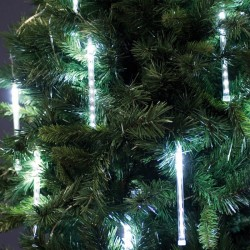 LED súprava 100 LED efekt sneženia 10 trubíc studená biela