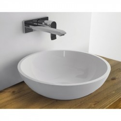 WhiteStone 420 umývadlo na dosku bez prepadu biela lesklá M4842001