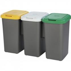 Kôš odpadkový Tontarelli TRIO 3 x 25 l