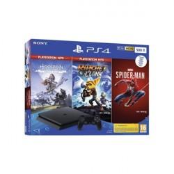 SONY PlayStation PS4 500GB Slim + Horizon + Rachet&Clunk + Spider Man
